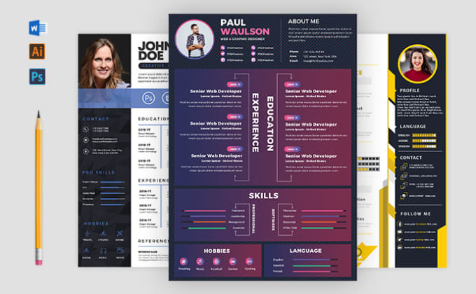 I will design professional and modern resume cv for you