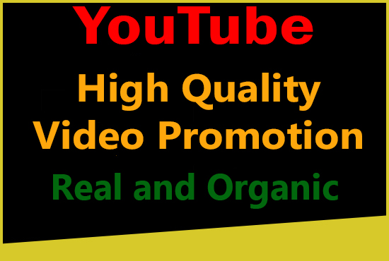 High Quality YouTube video promotion with Real and Organic Users