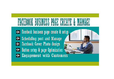 I will create, set up and manage your social media business page