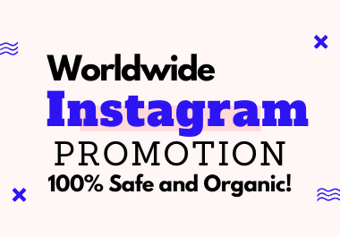 I will provide you a Non-drop Organic Instagram Promotion Service.