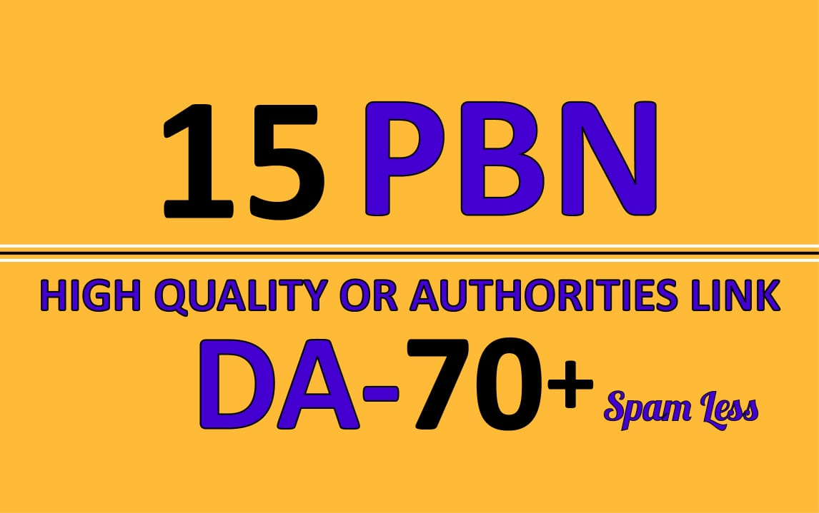 Extremely Powerful DA DR 15 HOMEPAGE PBN backlinks