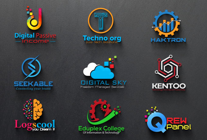 I will design professional tech logo for your business