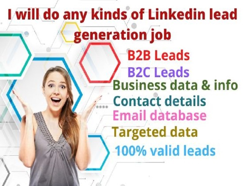 I will give 100 valid emails b2b,  b2c,  real estate and online lead generation LinkedIn