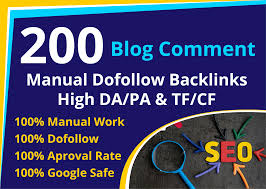 I will do High DA PA 200 dofollow blog comments backlinks