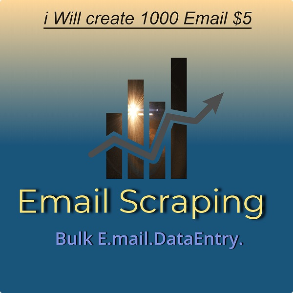 I wil Create 1000 Bulk Email Scraping
