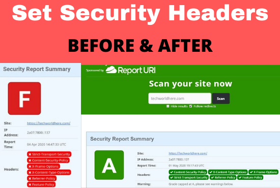 Technical Website Security - Http Security Headers - Safe from hackers and competitors