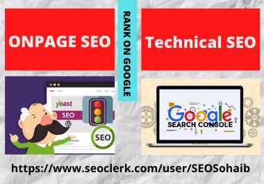 OnPage SEO and Technical SEO of Wordpress WebSite