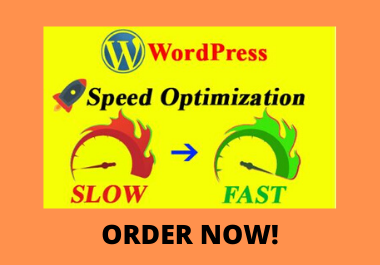 I will do wordpress website speed optimization,  increase gtmetrix page speed