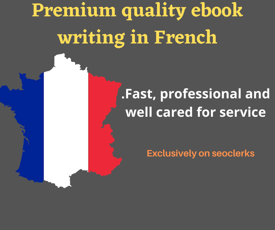 I will write you a premium quality ebook in French