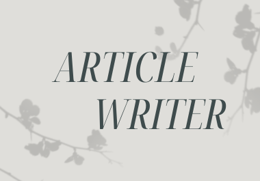 SEO optimized article writer available,  1k+ words