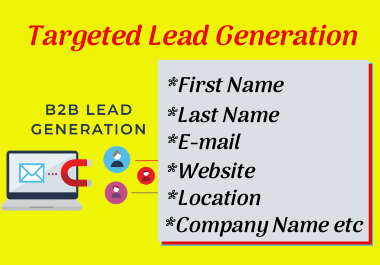 I can provide 200 b2b lead generations from linkedin