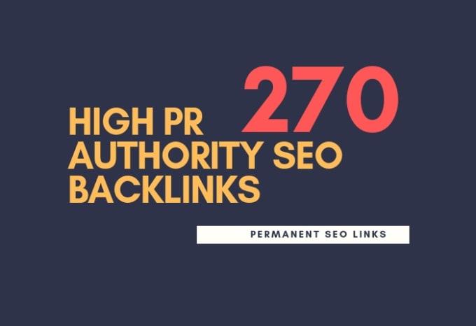 I will do 275 high pr authority SEO backlinks, link building