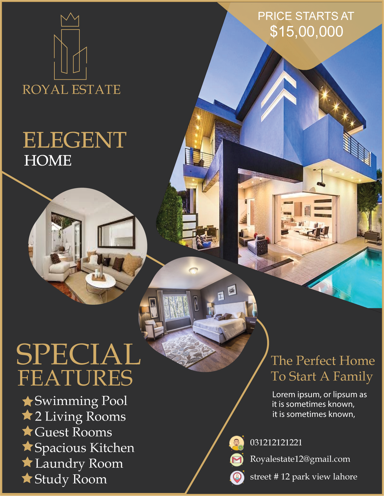 I will design professional real estate flyer,  brochure and web banner