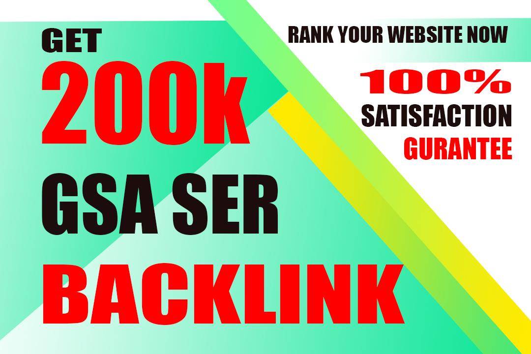 i will do 200k dofollow gsa backlink for ranking your website