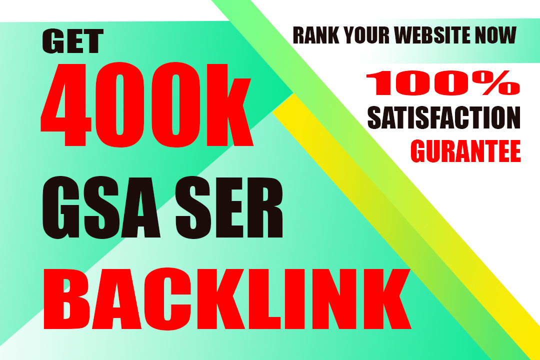 i will do 400k dofollow BAcklink for your website
