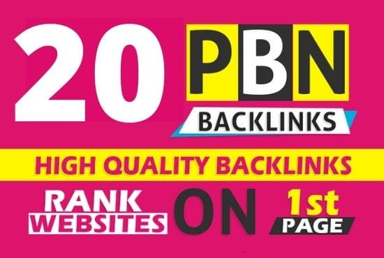 Build 20 PBN Back-link with high DA 80+ PA 50+,  DOFOLLOW with Unique website