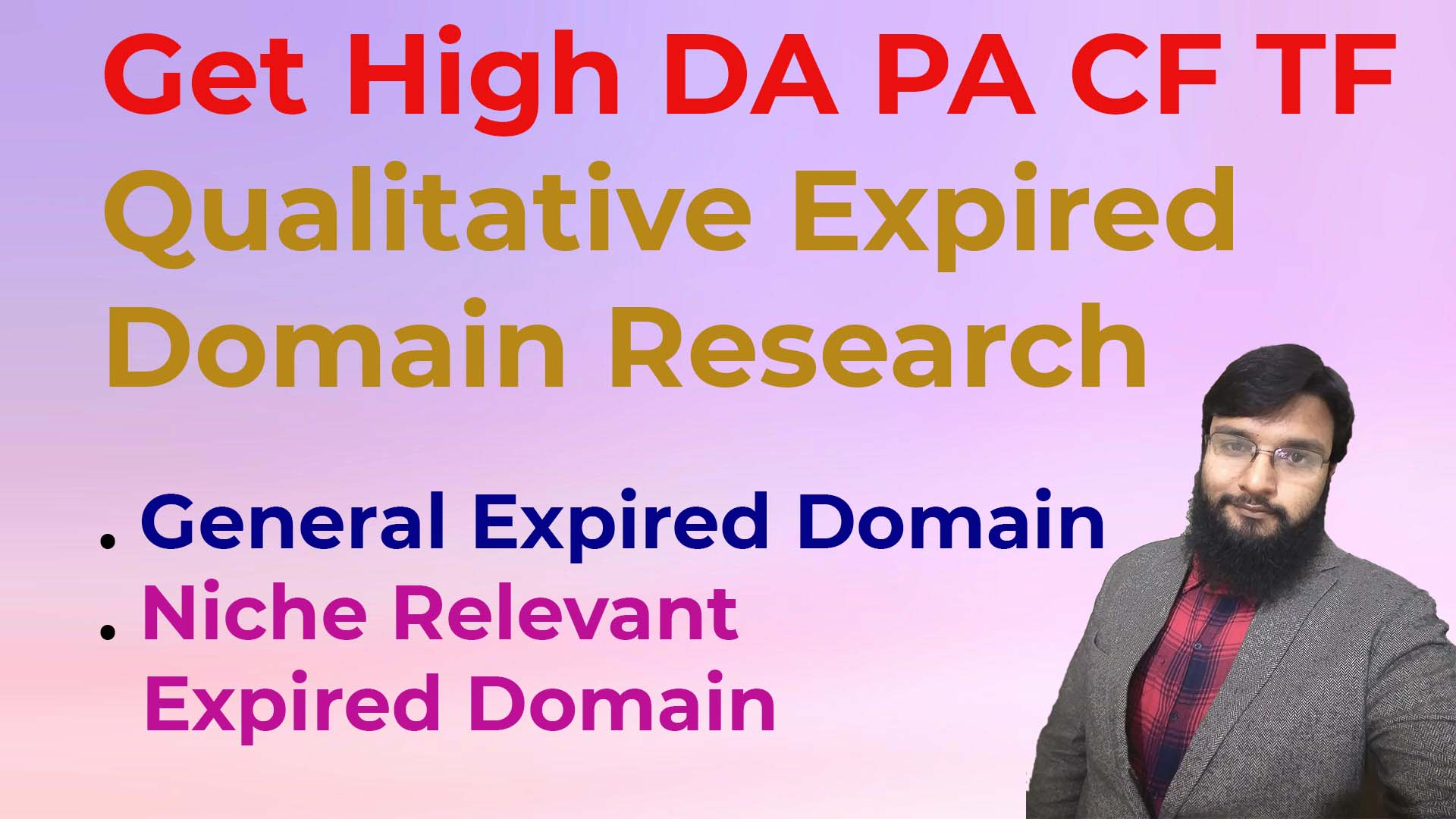 I will do high da pa expired domain research with high authority backlinks
