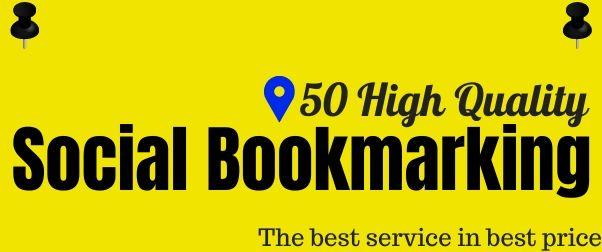 Provide top 50 heigh authority do-follow Social bookmarking manually