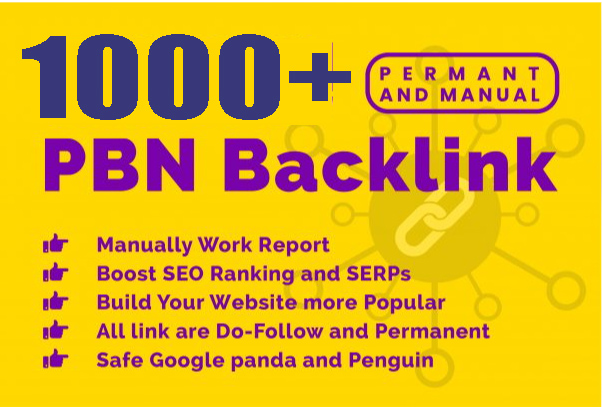 Get Extream 1000+ PBN Backlink in your website with HIGH DA/PA/TF/CF with unique website for 80