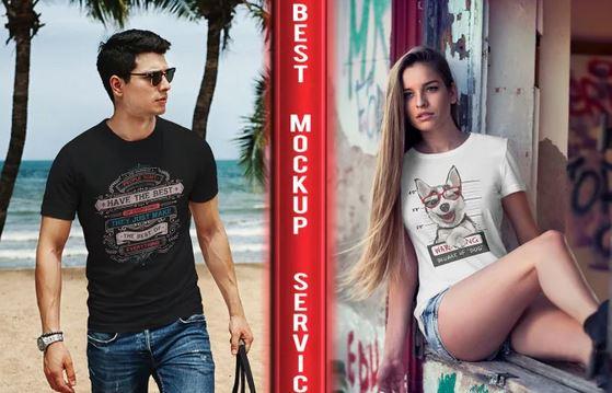 I will create 200 realistic HD tshirt mockups