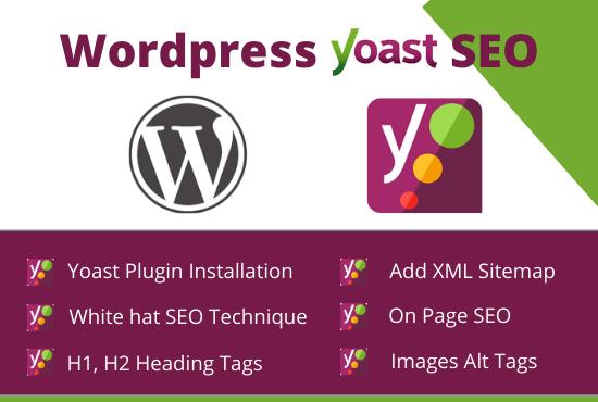I will do Wordpress on page yoast SEO optimization