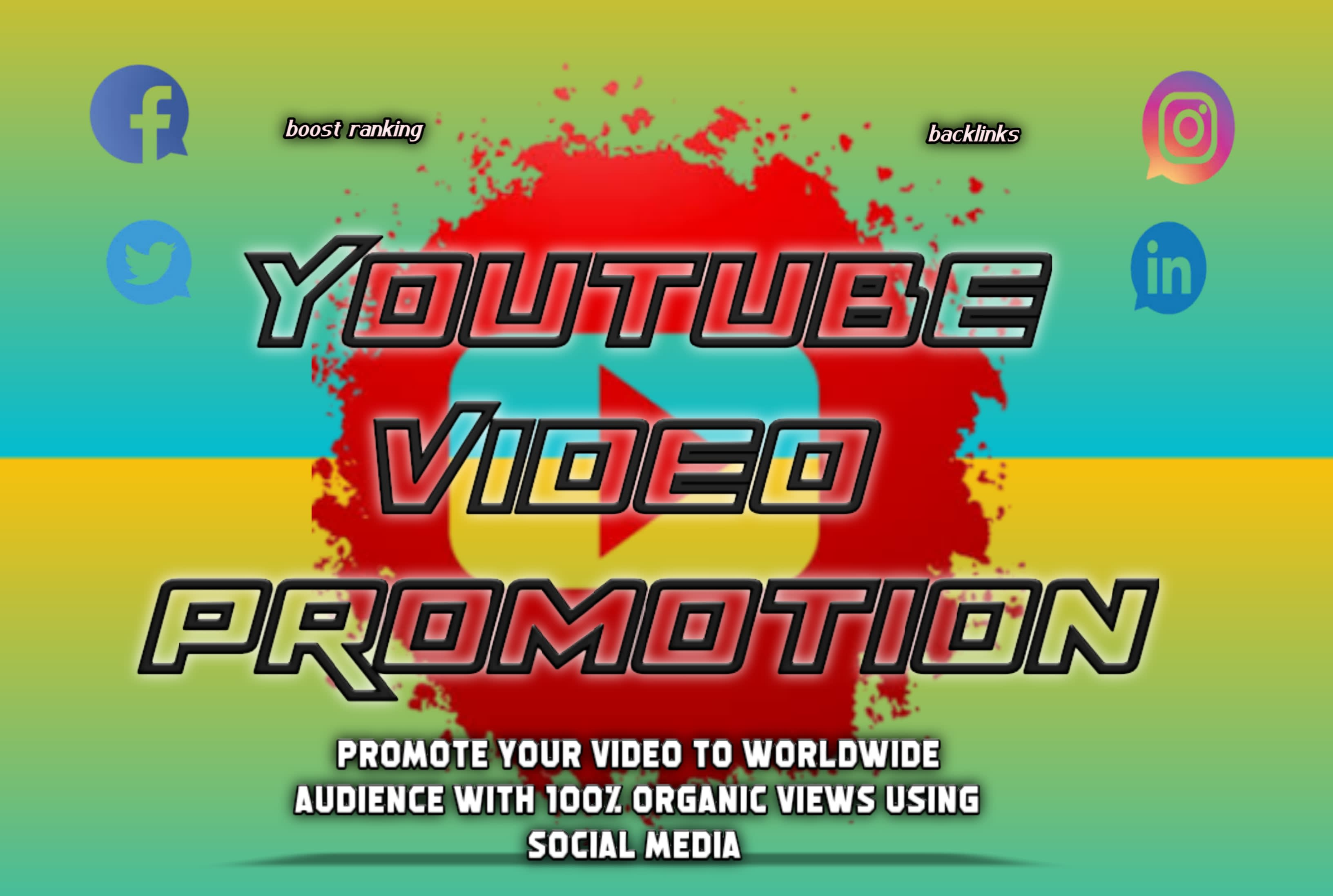 I will do organic youtube video promotion