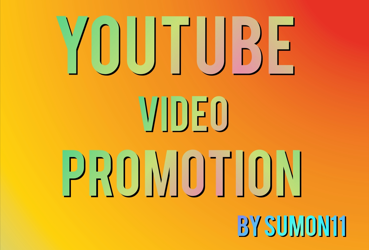Youtube video promotion Social media marketing Fast delivery By Sumon11