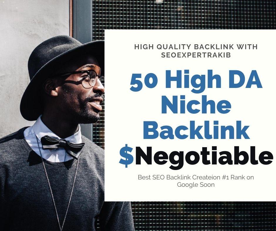 I will do 50 High DA Niche Relevant Backlink