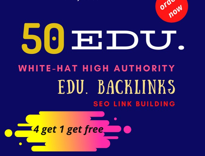 I will do 50 EDU and gov high quality backlinks