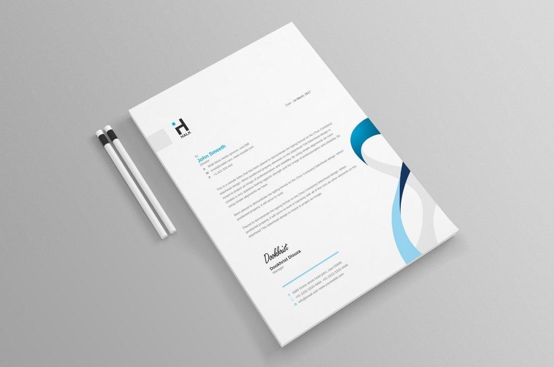 I will design editable custom professional business letterhead in word template