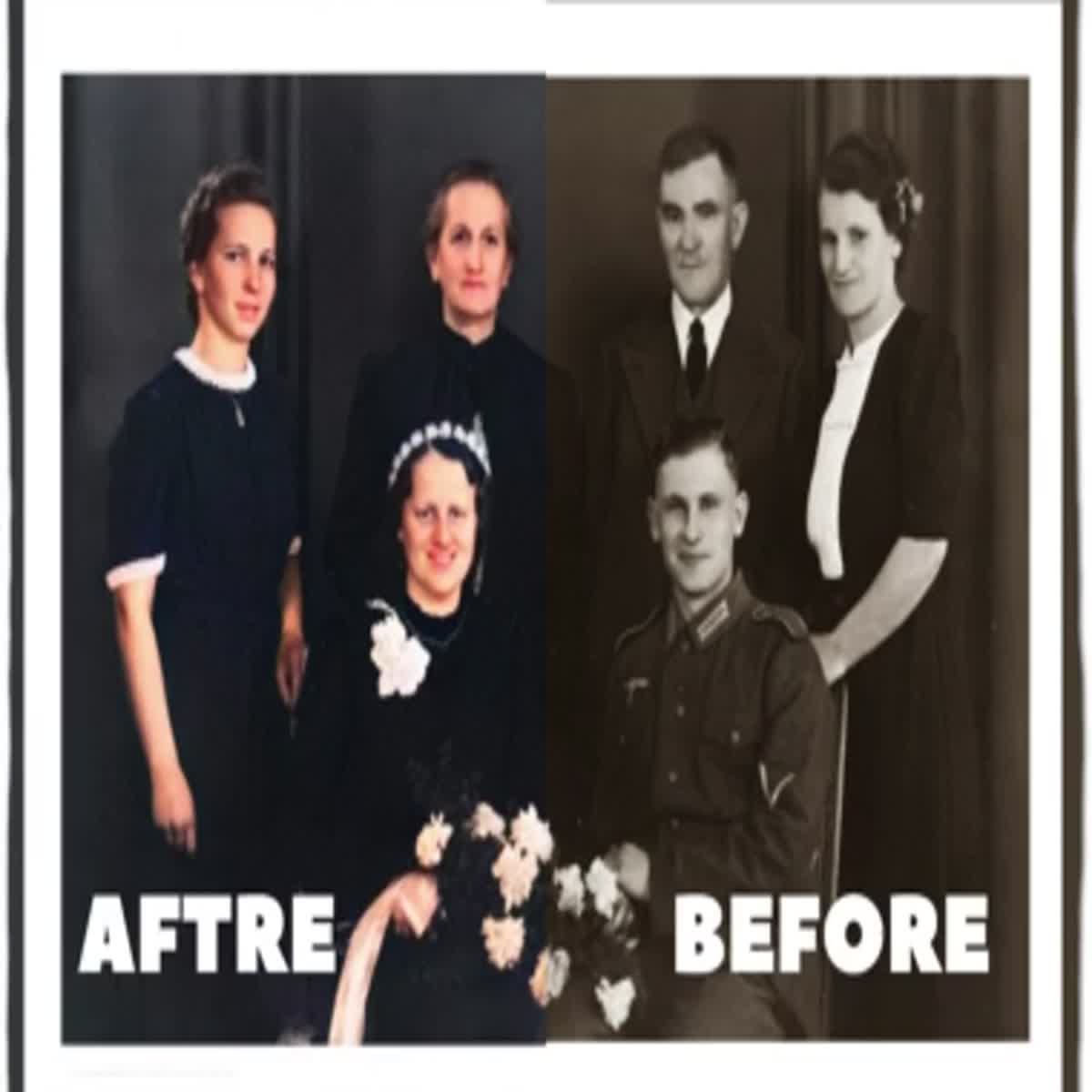 I colorize your black and white 5 photo