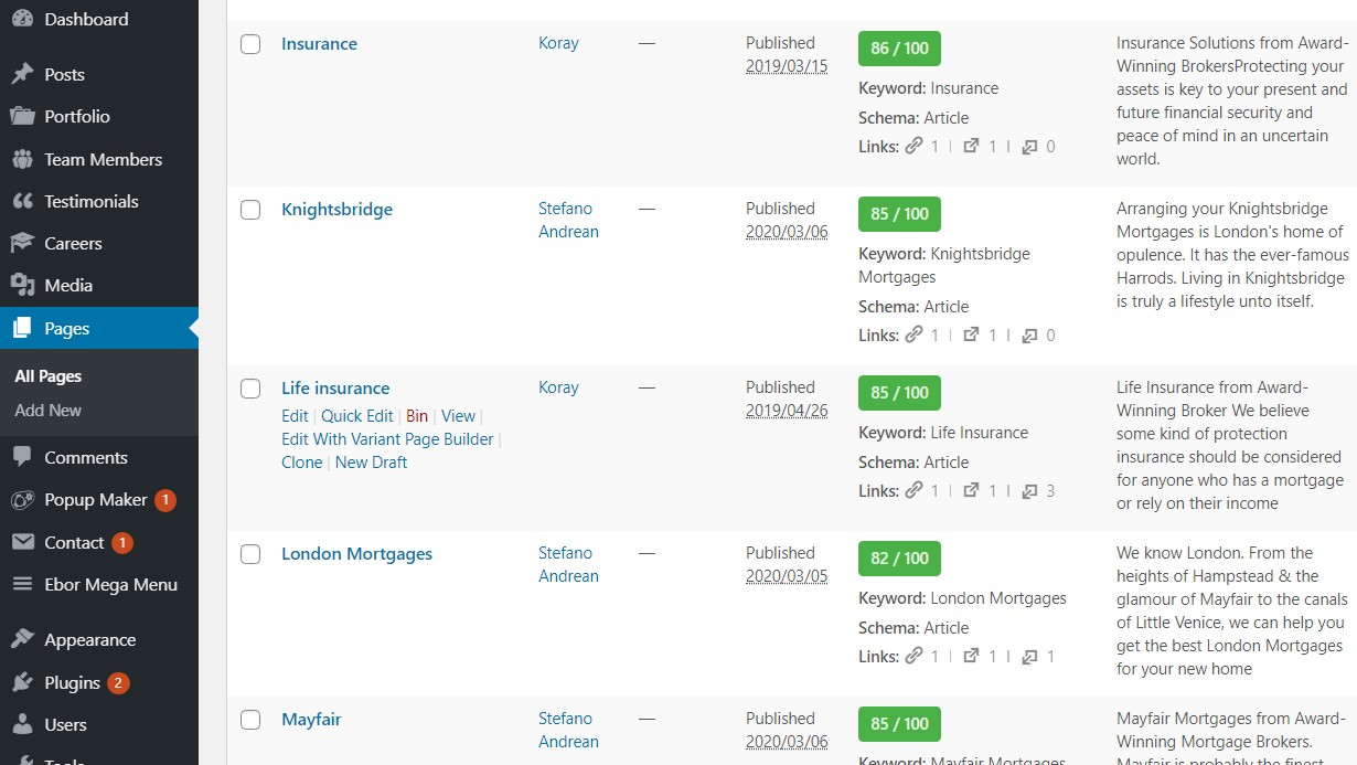 I will do advance on page SEO for your WordPress website with rank math plugin