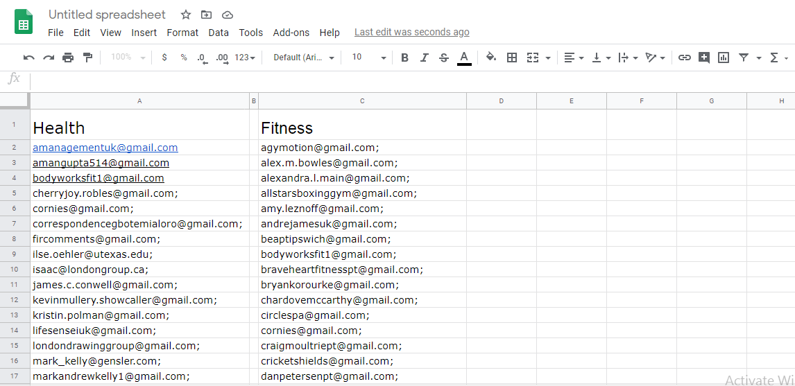 I will scrap active targeted emails from any social media platform within 24 hours