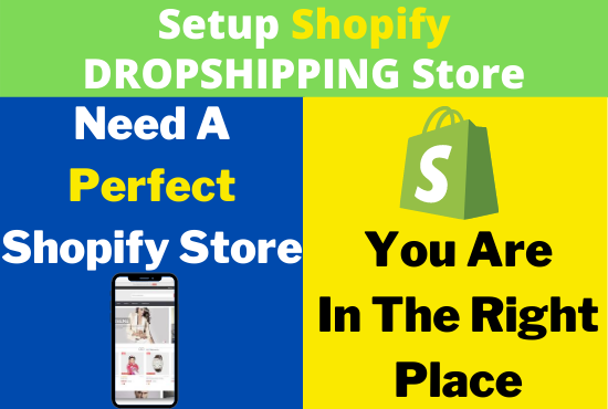 I will setup and customize shopify website dropshipping store