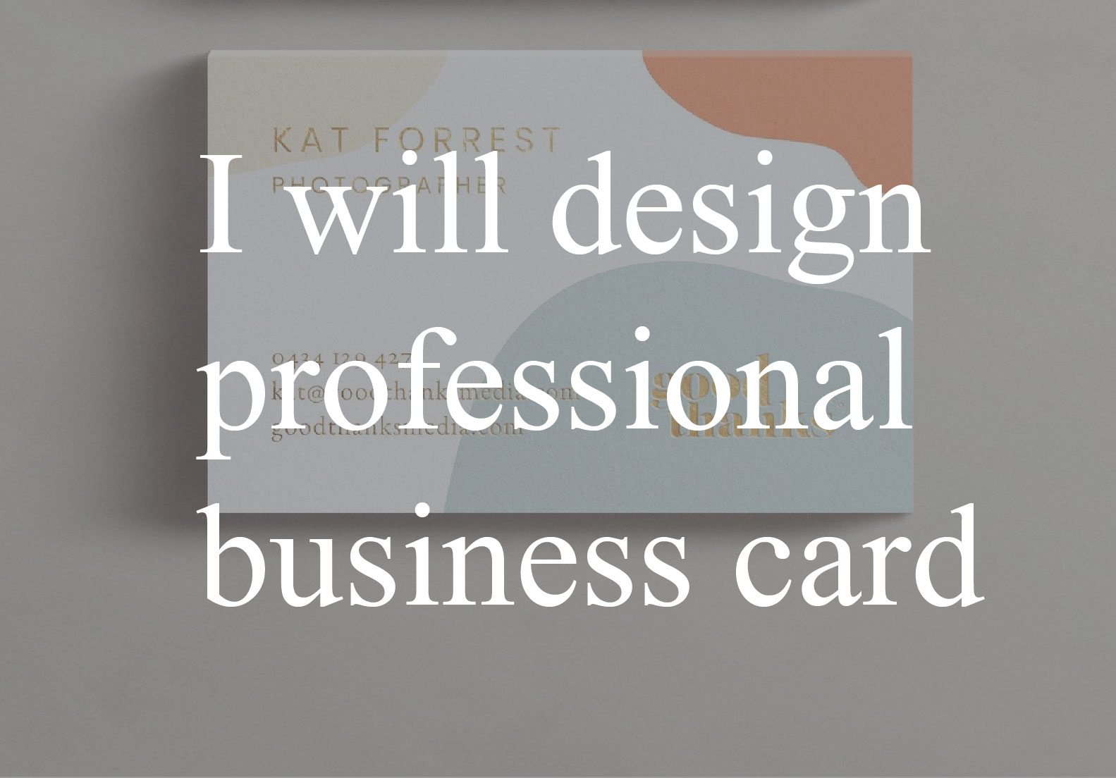 I can do professional business card & visiting card with print ready file