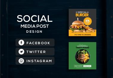 I will design creative social media post design or banner ads, instagram and facebook post