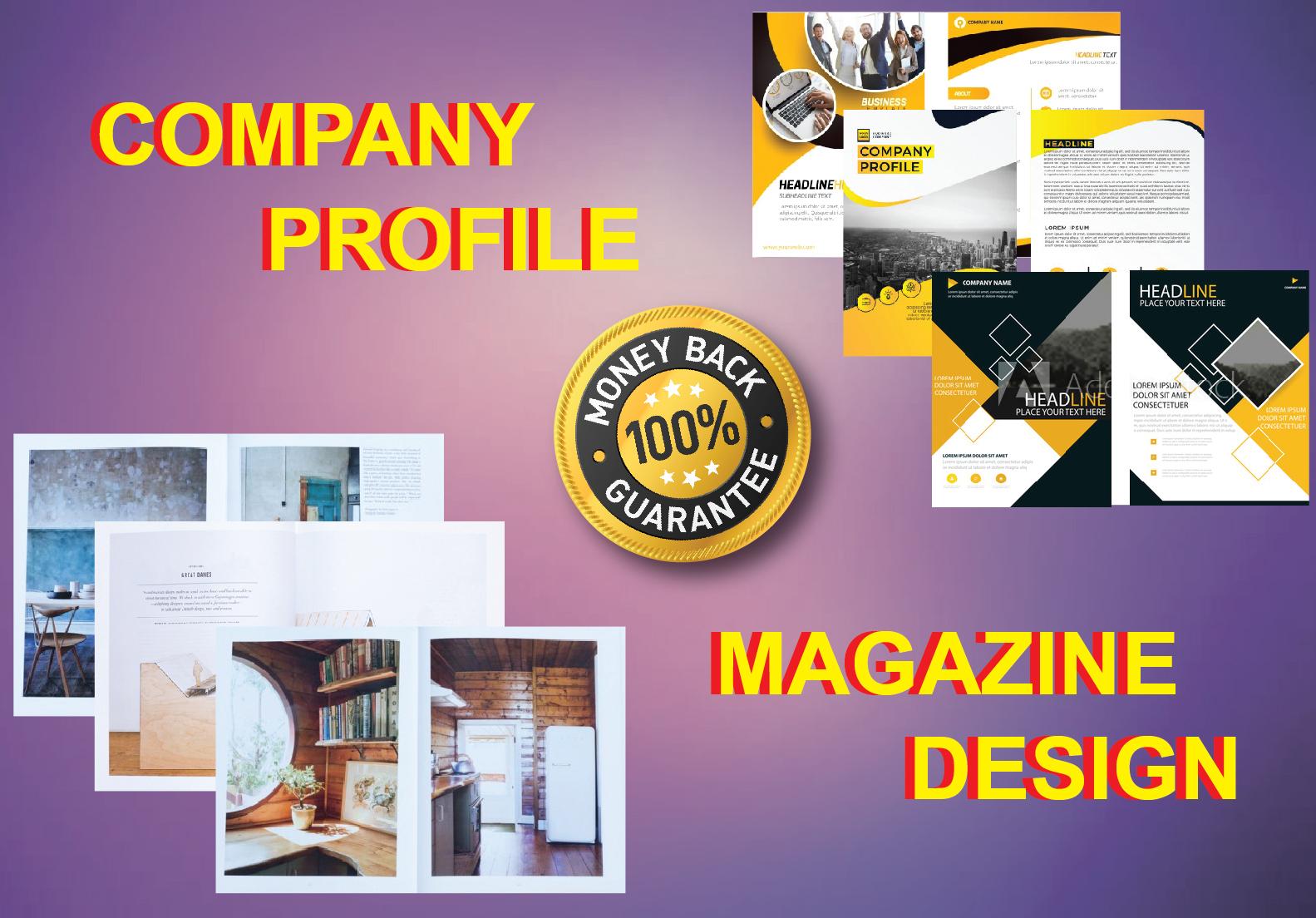 I Will Do Company Profile & Magazine Design