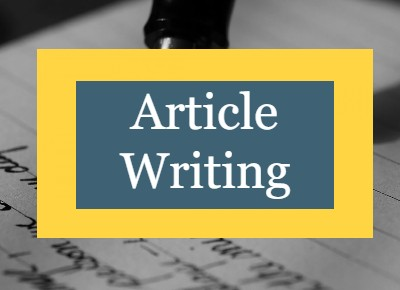 Professional article writing at affordable price.