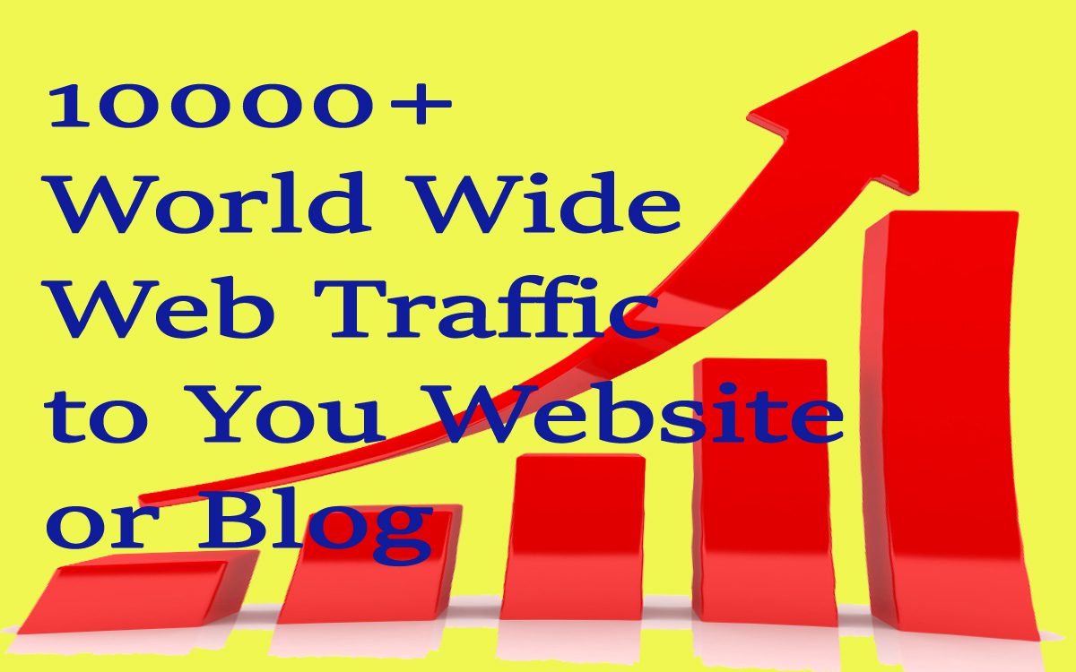 10000 plus World Wide Web Traffic for your website