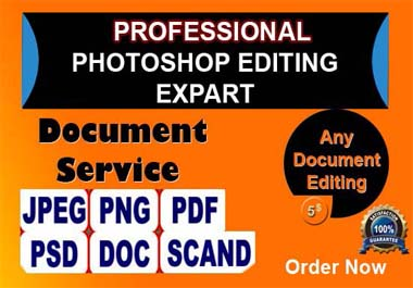I Will Do Professional Photoshop Document Editing and Image Background Removal