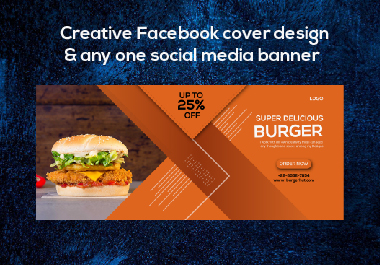 Creative Facebook cover design and any one social media banner