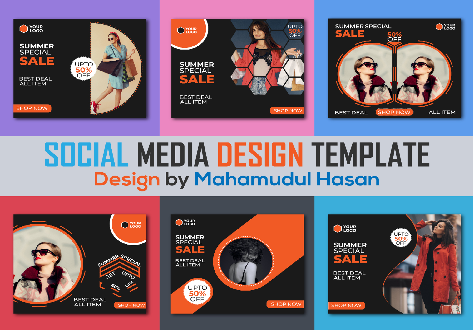 I will create trendy social media design template