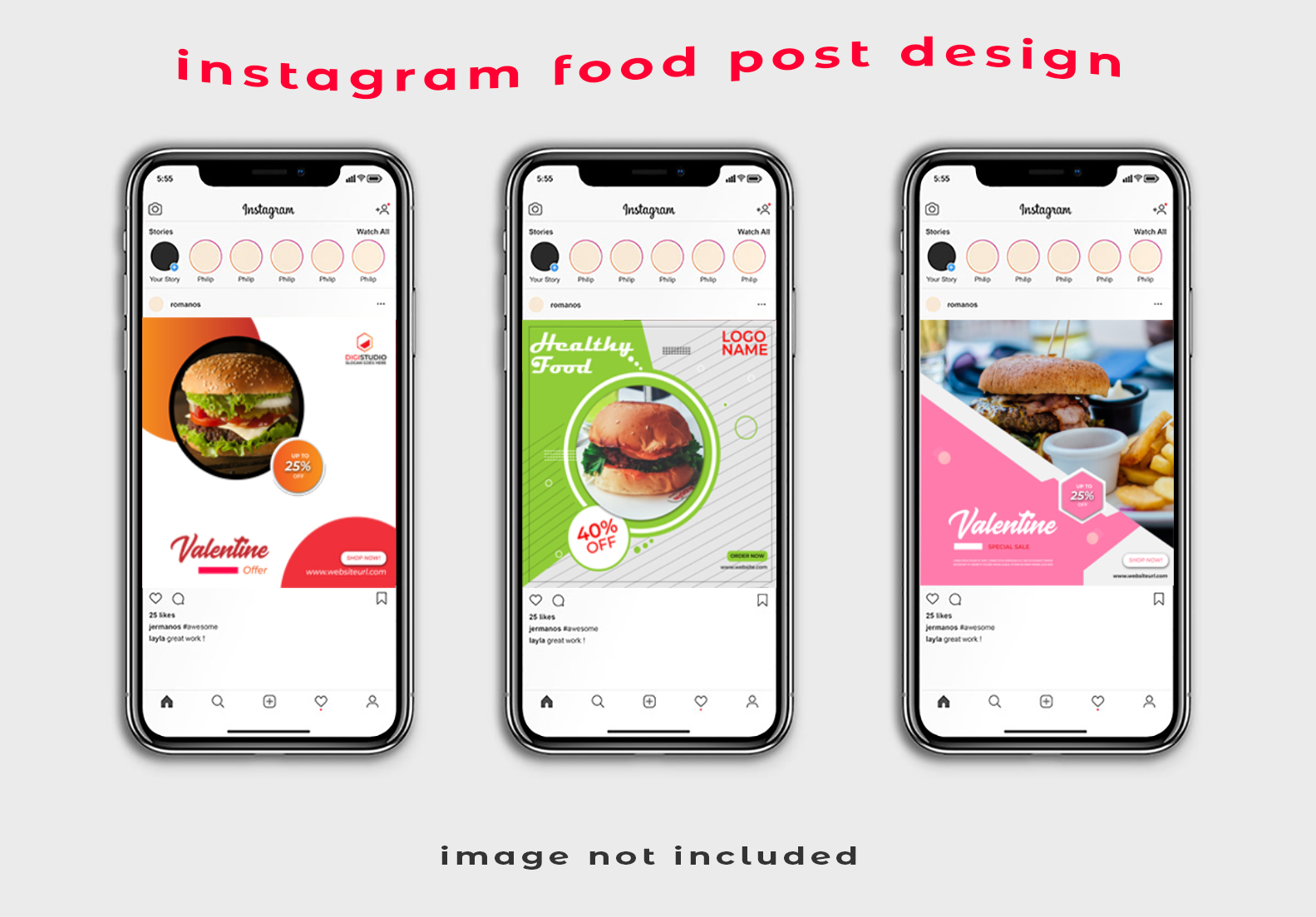 I will design professional Instagram food post design