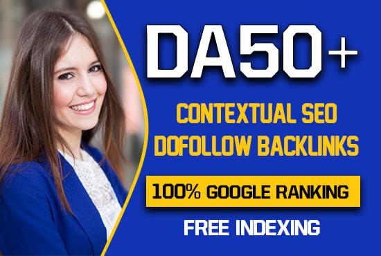 I will make 10 permanent high DA Contextual Backlinks Guranteed