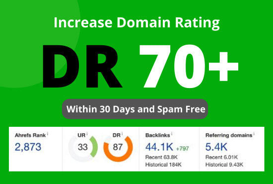 I will increase ahrefs domain rating DR to 55 plus