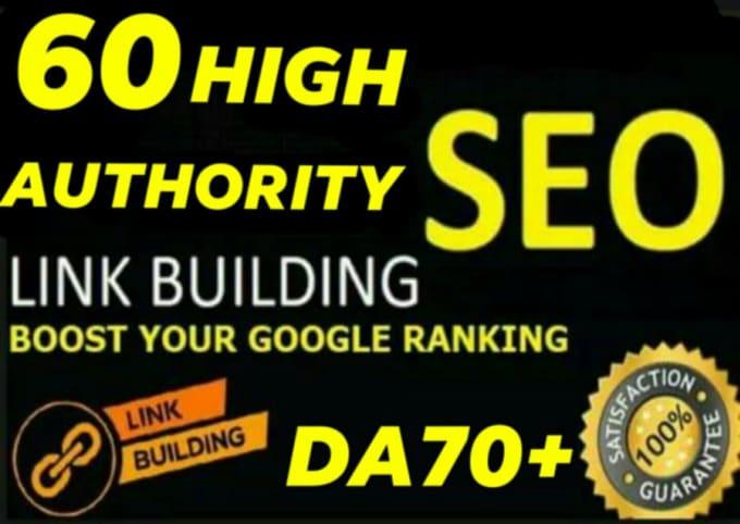 Do 60 permanent high da manual create link building SEO service