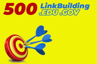 I will 500 edu backlinks manually created from high da site