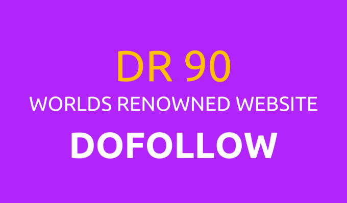 DR 90 dofollow backlink indexed google page 1