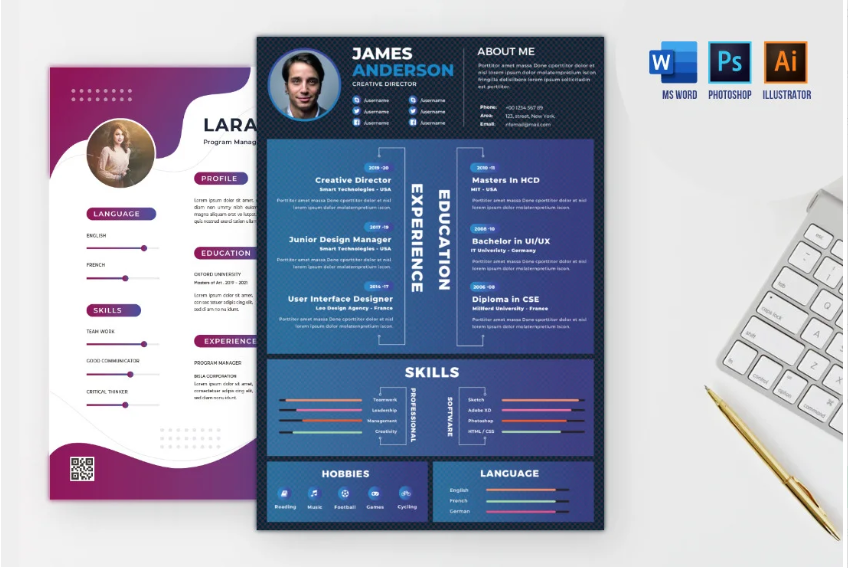 I will design modern or infographic cv,  resume within 24 hours