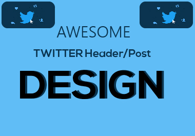 I will Design Awesome twitter Header/Post